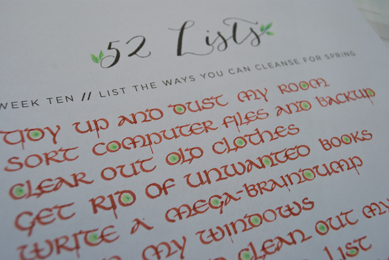 52 Weeks - Week Ten - Calligraphy