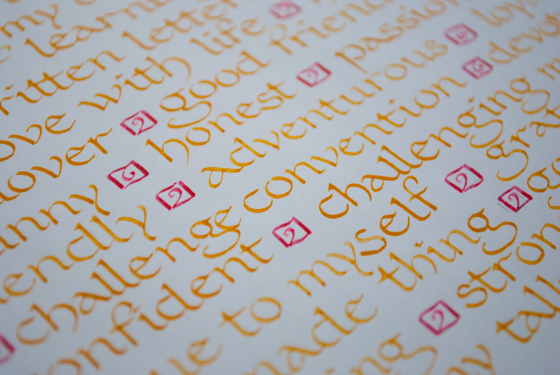 52 Lists // Week 19 // Calligraphy // Carolingian Minuscule Detail