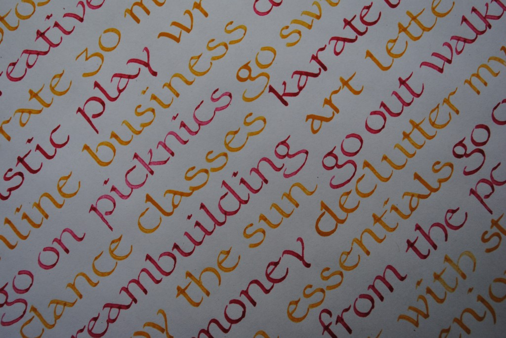 52 Lists // Week 20 // Calligraphy // Detail